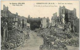 GERBEVILLER UNE RUE EN RUINES GUERRE 14-18 - Guerre 1914-18