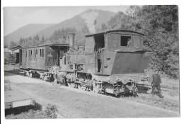 SENONES MOUSSEY (88) Photographie Train Locomotive Du Tramway De Senones à Moussey Vers 1950 - Senones