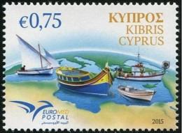 2015 - CIPRO / CYPRUS - EUROMED - IMBARCAZIONI / BOATS. MNH. - Emissioni Congiunte