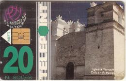 PERU - Yanque Church/Colca-Arequipa, Telecom Operator, Used - Peru