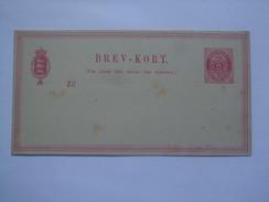 DENMARK 1875 HG#7 STATIONARY CARD UNUSED - 1864-04 (Christian IX)