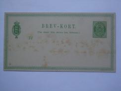 DENMARK 1875 HG#8 STATIONARY CARD UNUSED - 1864-04 (Christian IX)
