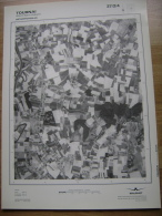 GRAND PHOTO VUE AERIENNE 66 Cm X 48 Cm De 1979   TOURNAI MONT SAINT AUBERT - Cartes Topographiques