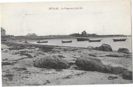 REVILLE (50) La Plage Sous Jonville Barques - France