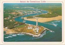 Y2416 Cavallino Lido (Venezia) - Il Faro - Panorama Aereo Vista Aerea Aerial View Vue Aerienne / Viaggiata 1994 - Italia