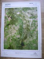 GRAND PHOTO VUE AERIENNE 66 Cm X 48 Cm De 1979  ANTOING ANTOING - Cartes Topographiques