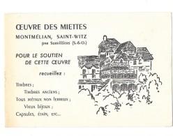 MONTMELIAN SAINT WITZ Par SURVILLIERS (95) Carte Illustrée Oeuvre Des Miettes - Saint-Witz