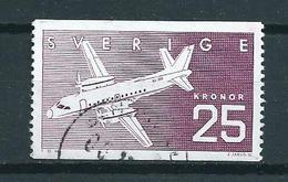 1987 Sweden 25 Kr. Aviation,luchtvaart,airplanes Used/gebruikt/oblitere - Zweden