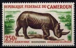 MDA-BK1-351-3 MINT ¤ CAMEROUN 1964 1w In Serie ¤ RHINOCEROS - WILD ANIMALS - MAMMALS