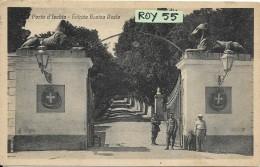 Campania-napoli-ischia Porto D'ischia Veduta Entrata Casina Reale Animata Anni/20 - Italia