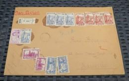 COTE D'IVOIRE Enveloppe Recommandée Par Avion 1942 - Côte-d'Ivoire (1892-1944)