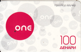 F.Y.R.O.M. - ONE Prepaid Card 100 Dinars, Exp.date 24/08/12, Used - Macedonia