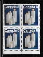 CANADA, 1972, MNH BLOCK # 607pi,  Tagged GT2,   CHRISTMAS CANDLES Mnh