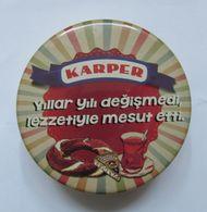 AC - KARPER TRIANGLE - TRIANGULAR CHEESE EMPTY TIN BOX - Caps