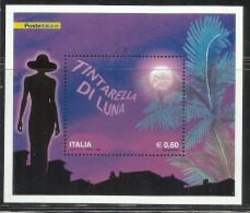 ITALIA REPUBBLICA ITALY REPUBLIC 2009 TINTARELLA DI LUNA BLOCCO FOGLIETTO BLOCK SOUVENIR SHEET MNH - Blocchi & Foglietti