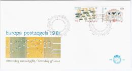 Nederland Netherlands 1981 FDC Europe CEPT, Folklore, Street Organ - Carillon, Music Musik Musique Bell Bells - FDC