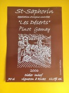 1962 -  Suisse Vaud St-Saphorin Les Déserts Pinot Gamay 2006 - Etiquettes