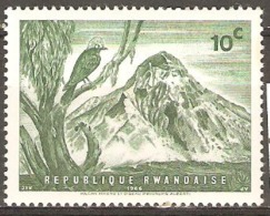 Rwanda 1966 SG 180 Mikeno Volcano Mounted Mint - 1962-69: Neufs