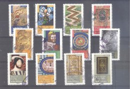 France Autoadhésifs Oblitérés N°1011/1022 (Série Complète : Objets D'art Renaissance En France) (cachet Rond) - France
