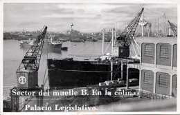 URUGUAY Vistas Del Puerto De MONTEVIDEO Sector Del Muelle B.en La Colonia Palacio Legislativo Juli 1950 - Uruguay