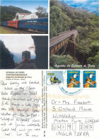Estrada De Ferro Railway Train Bridge, Curtiba Paranagua, Brazil Postcard Posted 2012 Stamp - Curitiba