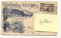 Rare Enveloppe Illustrée TE AROHA Voyagée NEW ZEALAND / FRANCE 1939 Beautiful Stamp - Cartas