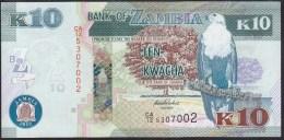 Zambia 10 Kwacha 2012 P51a UNC - Zambie