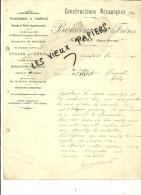 79 - Deux-sèvres - CERIZAY - Facture BOISUMEAU - Constructions Mécaniques – 1911 - REF 42E - 1900 – 1949