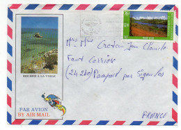 Nlle Calédonie-1986-tp Paysage Du Sud Seul Sur Lettre  Illustrée  Rochers  à La Voile--Anse-Vata - Briefe U. Dokumente