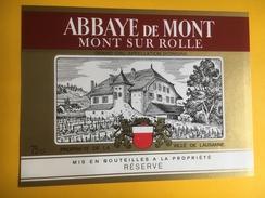 1998 -  Suisse Vaud  Abbaye De Mont Mont Sur Rolle  Propriété De La Ville De Lausanne - Etiquettes