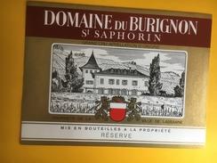 2000 -  Suisse Vaud  Domaine De Burignon St Saphorin Propriété De La Ville De Lausanne - Etiquettes