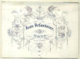 Porceleinkaart - Carte Porcelaine - 19ème Siècle - 19de Eeuw -  Jean Defontaine Mons - Publicités