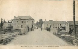 RARE LANRELAS SORTIE DU BOURG ROUTE DE BROONS - France
