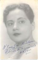 COMPOSITA Y PIANISTA BRASILEÑA LETICIA DE FIGUEIREDO  AUTOGRAFO DOBLE AÑO 1940 TRES BON ETAT AUTOGRAPHE AUTOGRAPH - Autogramme & Autographen