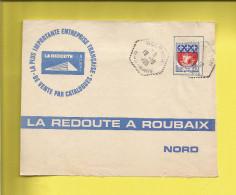 Enveloppe Ou Lettre Publicitaire Commerciale De BOERSCH BAS RHIN En Retour ROUBAIX LA REDOUTE N° 1354B Écusson PARIS - Marcophilie (Lettres)