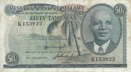 MALAWI 50 TAMBALA 1975 P-9c   [ MW109c ] - Malawi