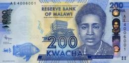 MALAWI 200 KWACHA 2012 P-60a UNC  [ MW153a ] - Malawi
