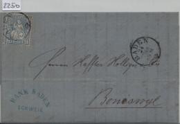 1865 Sitzende Helvetia/Helvétie Assise 31/23 - Stempel: Fleurier Pour Chaux-de-Fonds 18. Mai 65 (Comptoir D'Escompte) - 1862-1881 Sitzende Helvetia (gezähnt)
