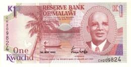 MALAWI 1 KWACHA 1992 P-23b UNC [MW123b] - Malawi