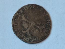 FRANCE Douzain Henri IV 1592 Argent Silver - 1589-1610 Henri IV Le Vert-Galant