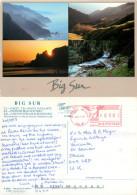 Big Sur, California, United States US Postcard Posted 1997 Meter - Big Sur
