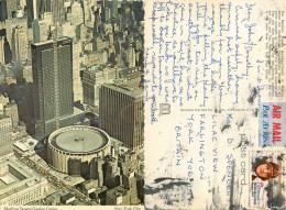 Madison Square Gardens Stadium, New York City NYC, New York, United States US Postcard Posted 1981 Stamp - New York City