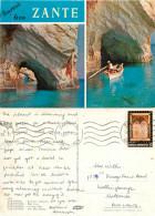 Blue Cave, Zakynthos, Greece Postcard Posted 1982 Stamp - Greece