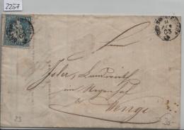 1863 Sitzende Helvetia/Helvétie Assise 31/23 - Fingerhutstempel Oberwinterthur & Wängi (Stahel & Jaeggli) - 1862-1881 Sitzende Helvetia (gezähnt)