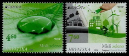Croatia 2016 Europa CEPT, Think GREEN, Environment, Bicycle, Set MNH - Europa-CEPT