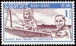 LUNDY ISLAND - SW492 Bleriot Witt Anzani The Constructor / Mint NH Stamp - Transportmiddelen