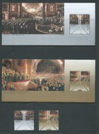 Australia 2001 Parliament Set Of 2 + Both Miniature Sheets MNH - Nuovi