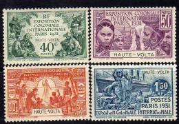 Haute Volta N° 66 / 69 X  Exposition Coloniale De Paris, La Série Des 4 Valeurs Avec Trace De Charnière TB
