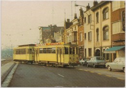 Postcard Belgium - Tramway - Gent - Three-Axle Motorcar 317 And Trailer 67 (Former Motorcar 203) Route 20 Photo Schleich - Strassenbahnen