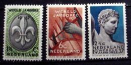 NETHERLANDS # 206-208. 5th Boy Scout World Jamboree. MNH (**) - Unused Stamps